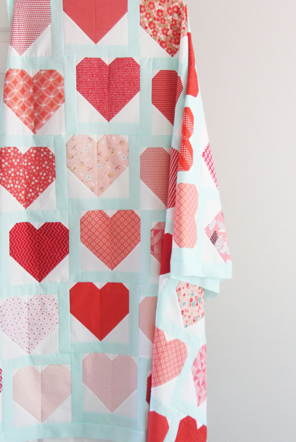Heart Quilt Top and Block Tutorial