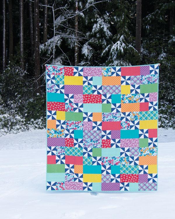 Playful 2 Quilt Pattern, Fat Quarter Friendly