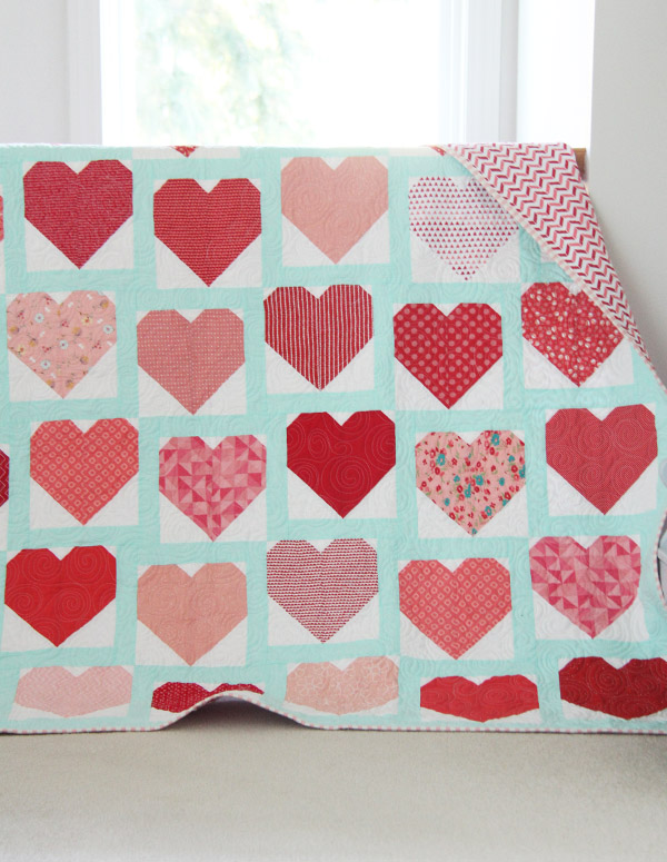 All the Hearts Quilt, Heart Block Tutorial
