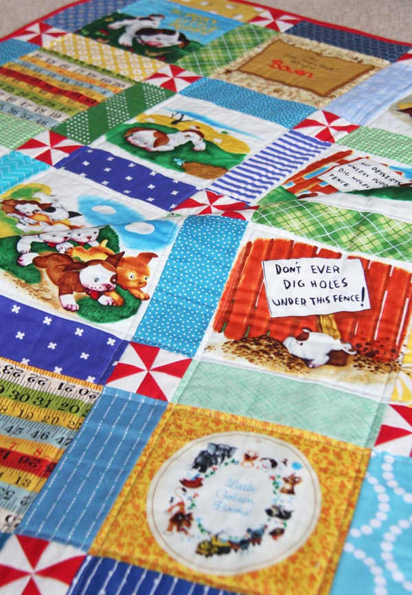 A Pokey Puppy Baby Quilt, Cluck Cluck Sew