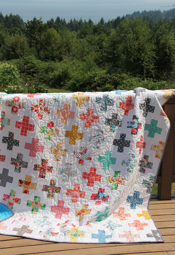 All the Florals Plus Quilt, Simple Addition Pattern Cluck Cluck Sew