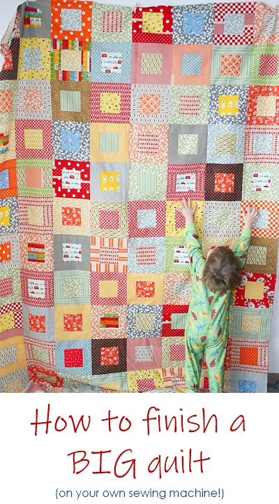 Tips for quilting a BIG quilt at home