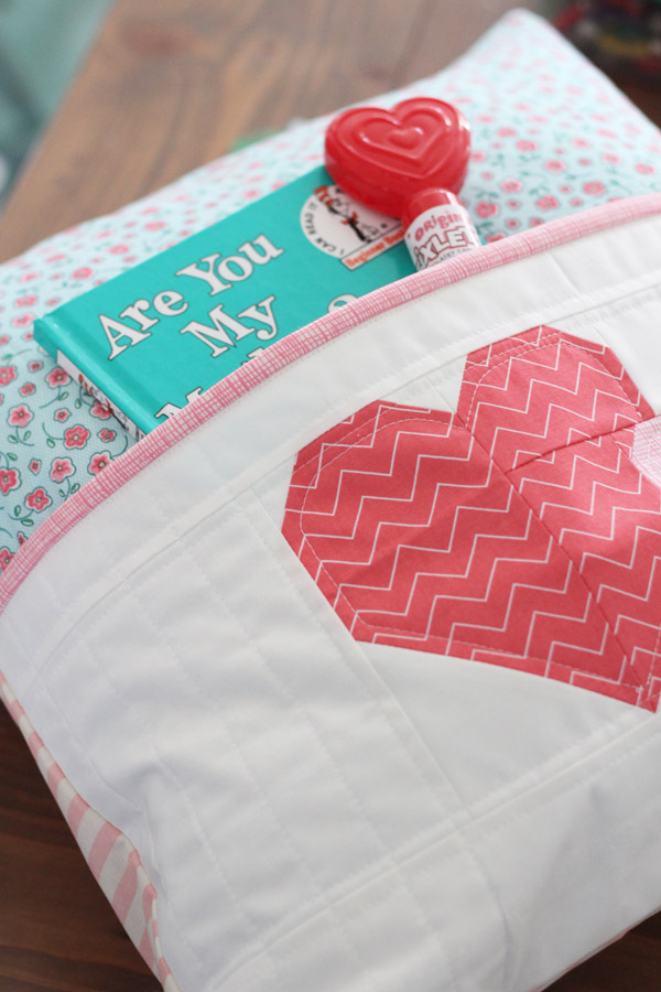 Heart Pocket Pillow