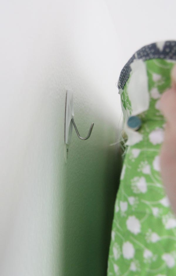Hanging a Quilt on the Wall with Command Hooks
