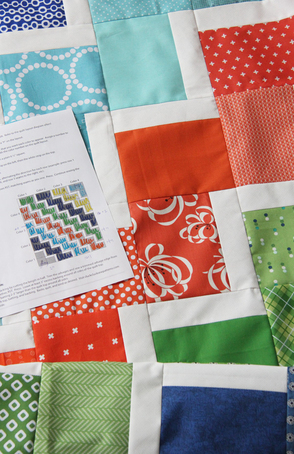 Scrappy Ziggy Baby Quilt and Pattern