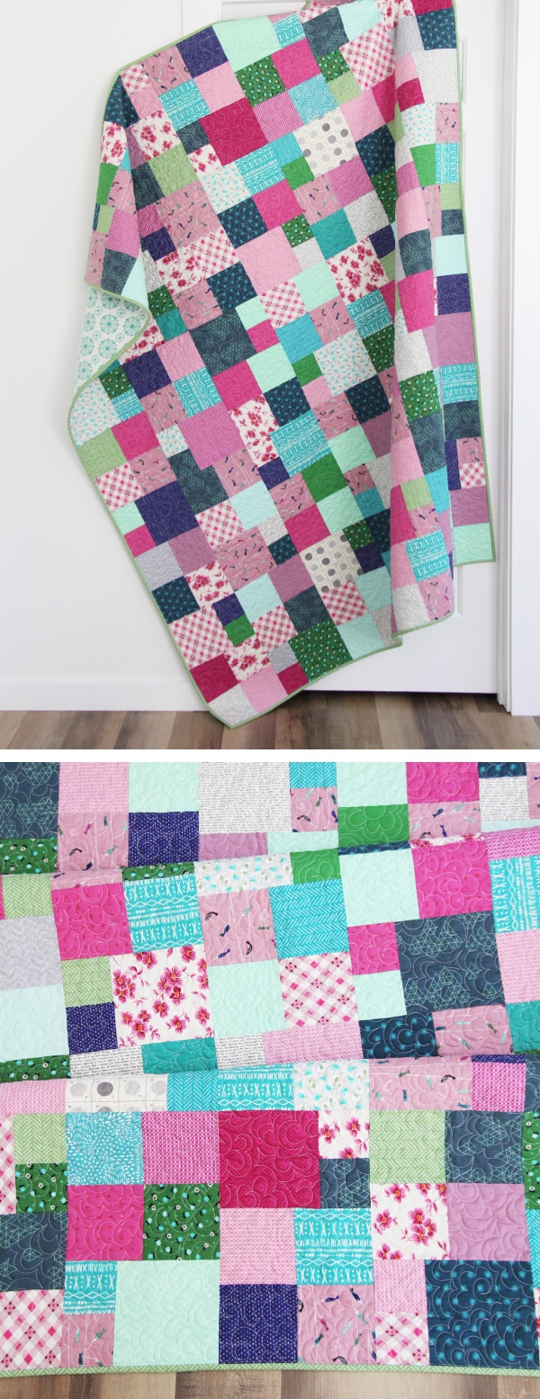 Fat Quarter Friday, an Easy Downloadable Quilt Pattern in 5 sizes