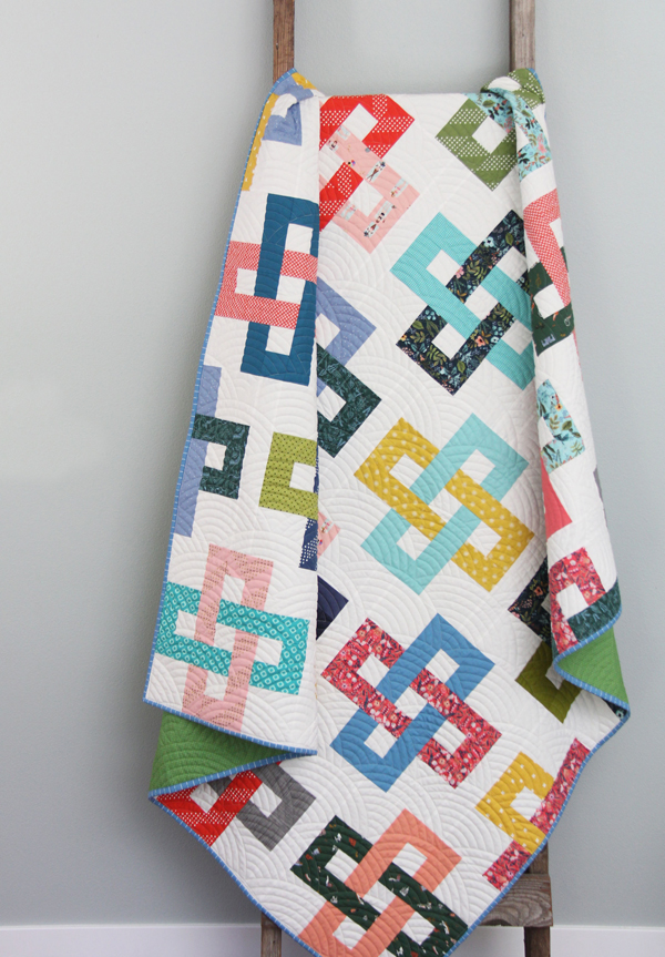 Simplify quilt, a jelly roll pattern in 5 sizes