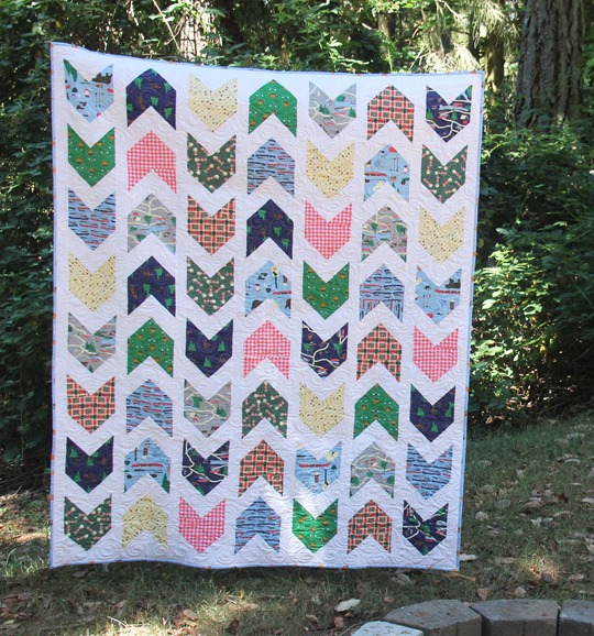 Pow Wow Quilt in Take a Hike fabrics