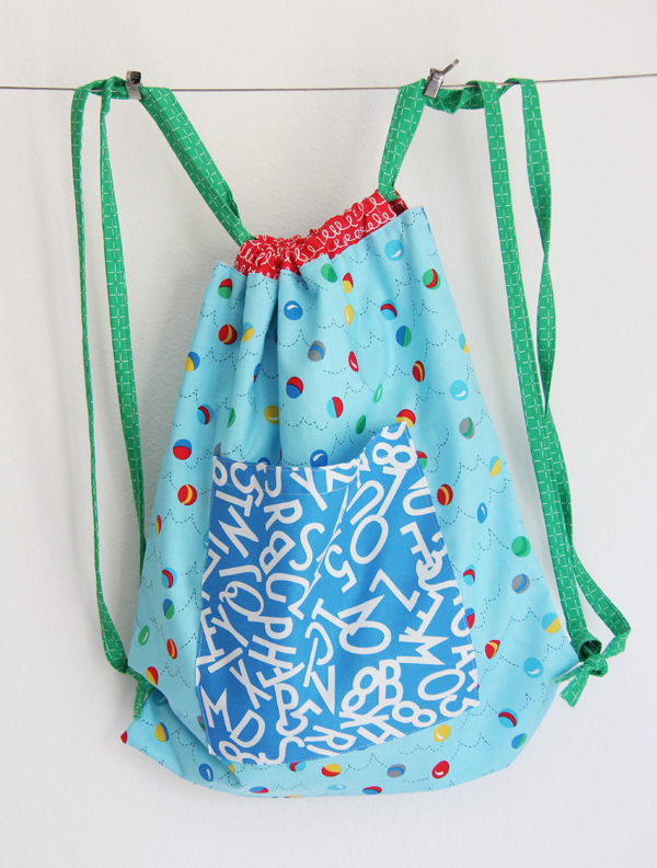Drawstring Bag Pattern in Bounce