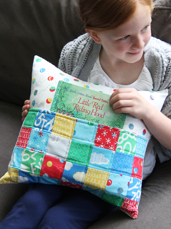 Scrappy Reader Pillow from book Growing Up Modern
