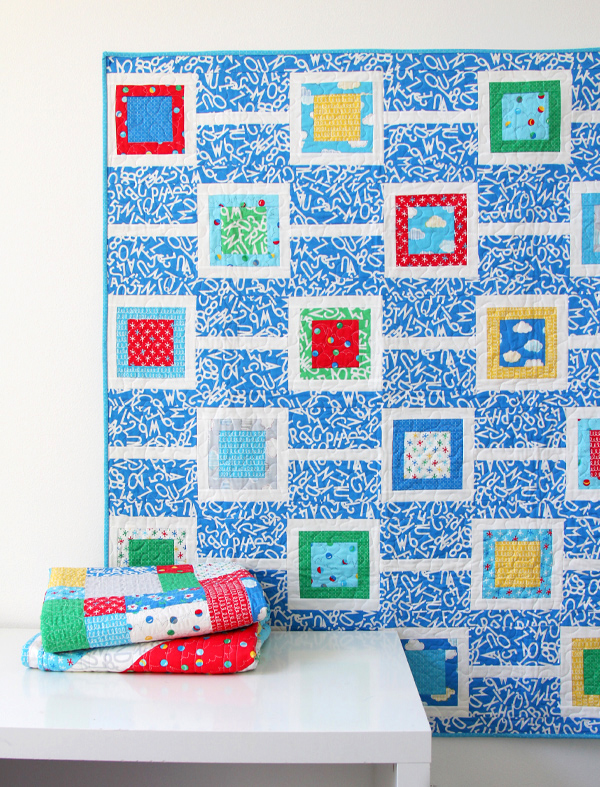 Chain Reaction Quilt Pattern in Bounce Fabrics