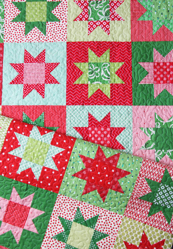 Christmas Stars, Free Printable Pattern in 5 sizes