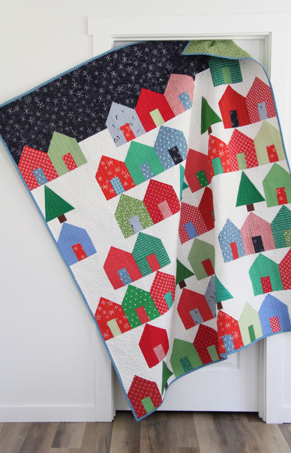 Suburbs Christmas Quilt with a Free Tree Block add on