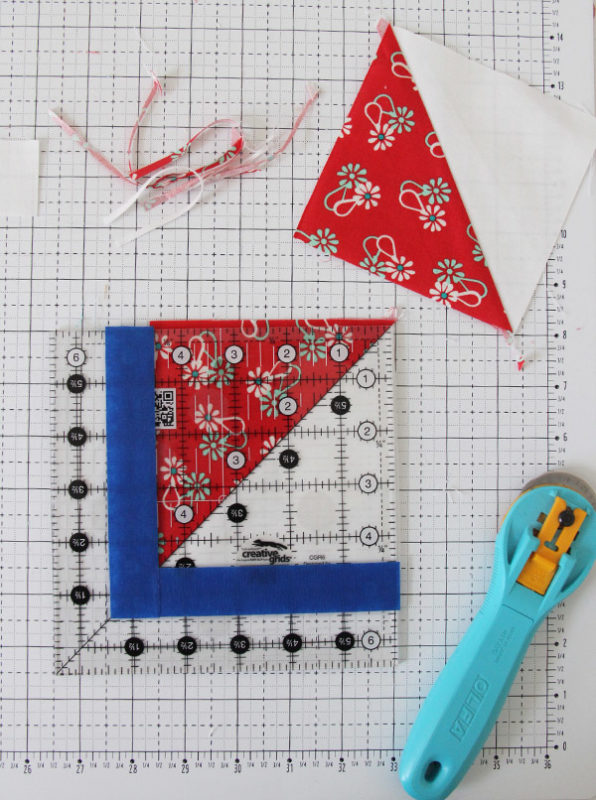Add painters tape to your quilting ruler