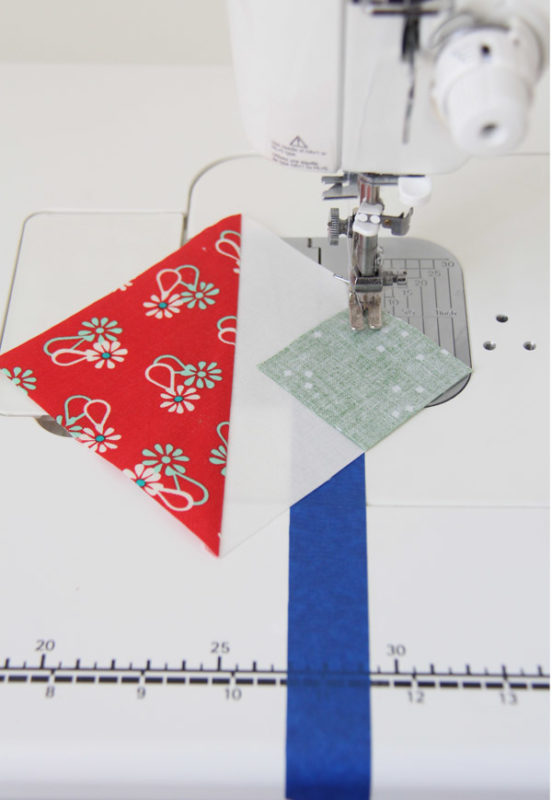The Triangle Corner Tape Trick...best time saving quilting tip!