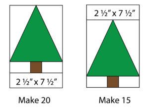 Evergreen Tree Quilt Tutorial