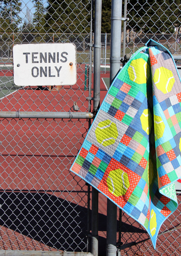 Tennis Quilt, Batter Up Pattern, Fat Quarter friendly and easy to make!