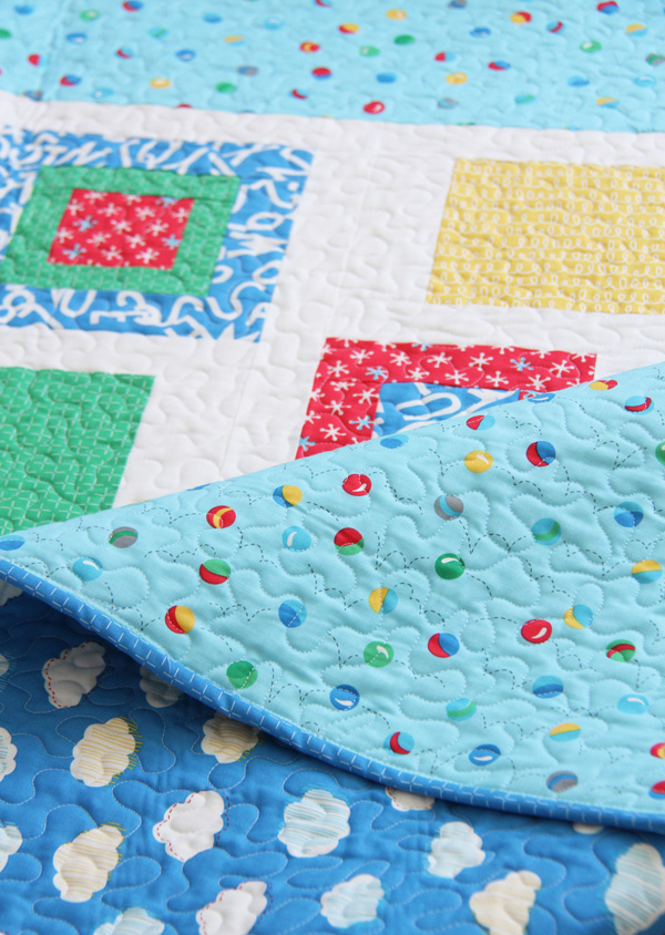 Hop Skip, a simple fat quarter baby quilt pattern