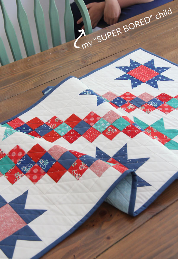 4th of July Stars  Table Runner Pattern