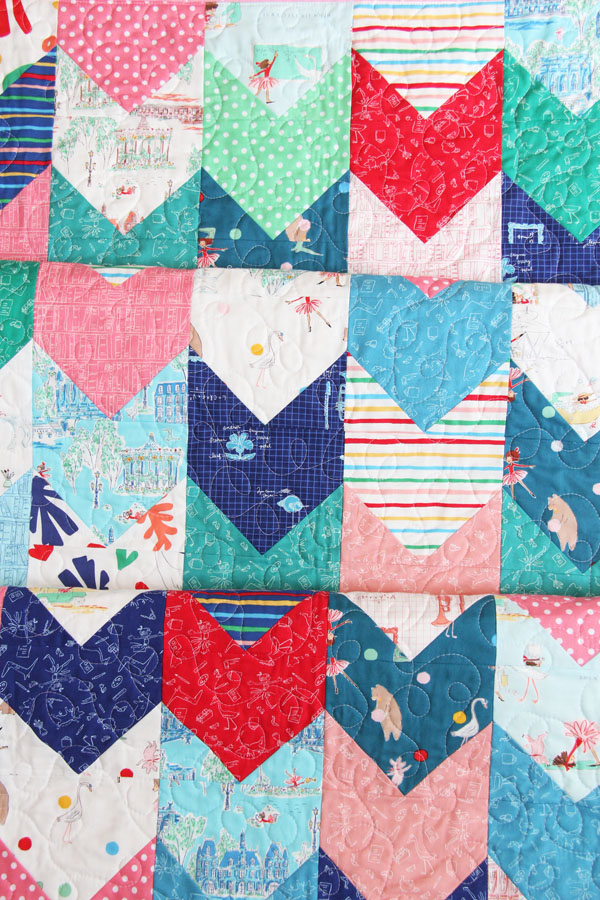 One Way Quilt Pattern, Fat Quarter Friendly in Multiple Sizes