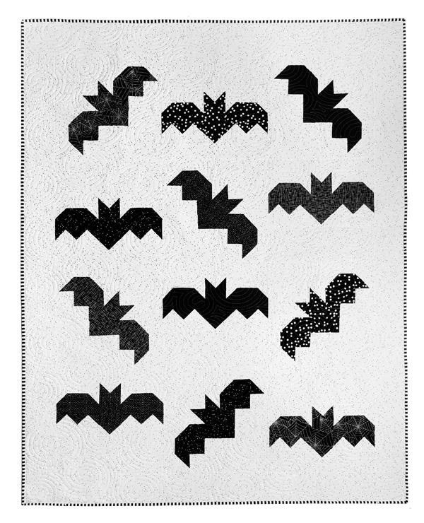 Bats Quilt Pattern, Cluck Cluck Sew