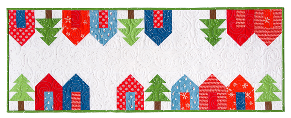 Modern Holiday Table Runners Pattern, Cluck Cluck Sew