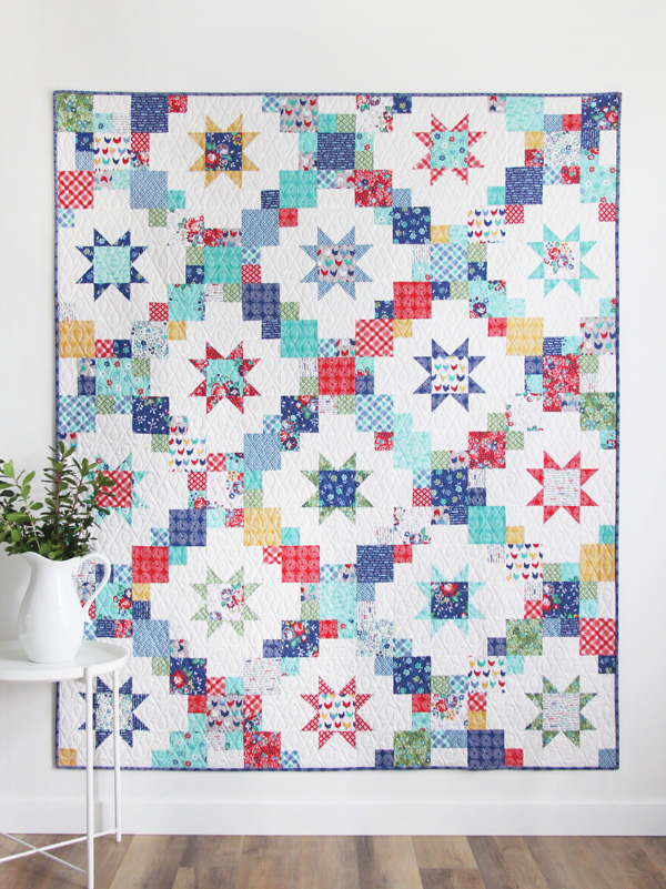 Brightly Quilt Pattern, layer cake or fat quarter friendly
