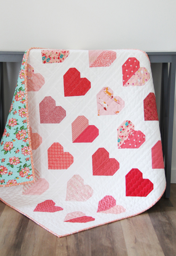 Simple Heart Quilt Free Pattern