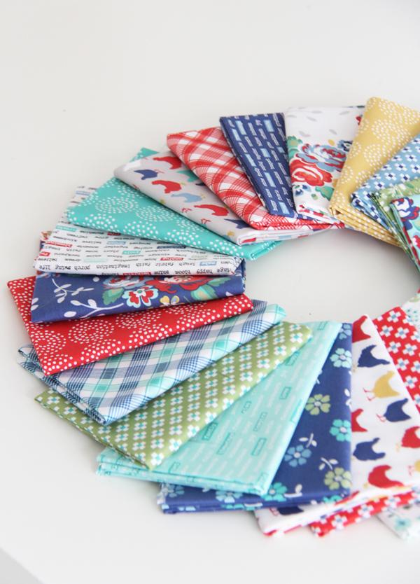Backyard Blooms fabric