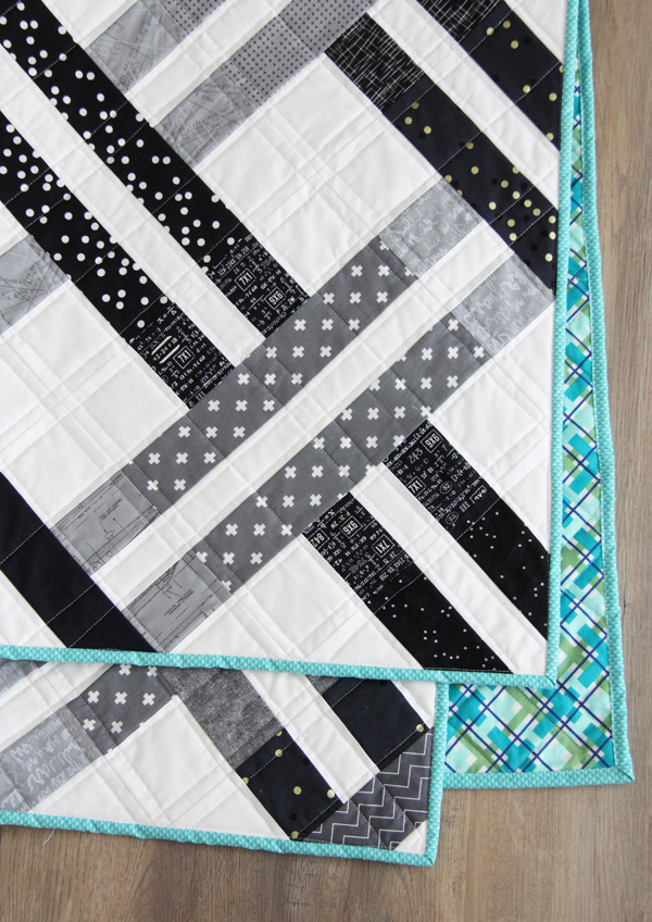 Jelly Weave Quilt Pattern, jelly roll and beginner friendly