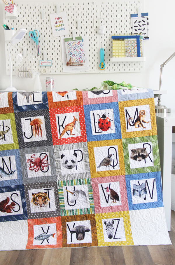 A Zookeeper quilt, with instructions