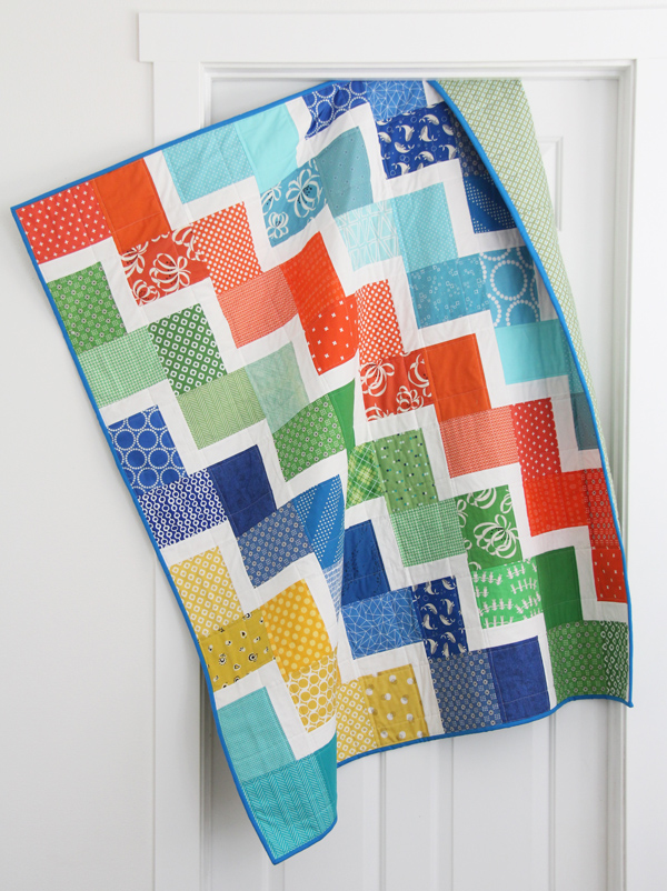 Ziggy Baby quilt pattern, beginner friendly