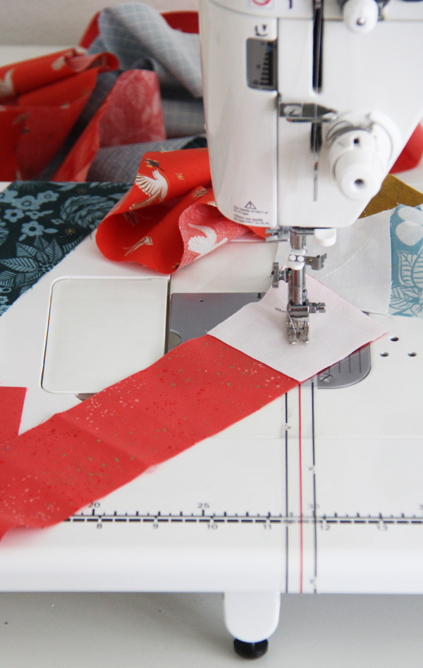 Diagonal Seam Tape for easy piecing quilts