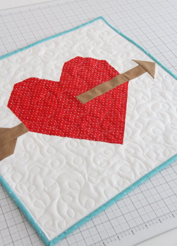 Lovestruck Free Quilt Block Printable Pattern